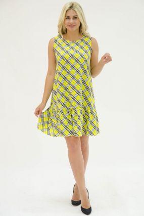 Платье трикотажное Давиния (желтое)