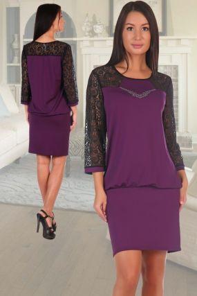 Платье вискозное Премьера (фиолетовое)