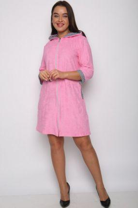 Халат махровый Лилия (розовый)