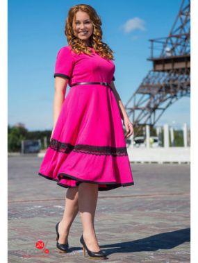 Платье SK House, цвет малиновый
