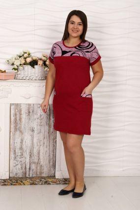 Платье трикотажное Лиллиан (красное)