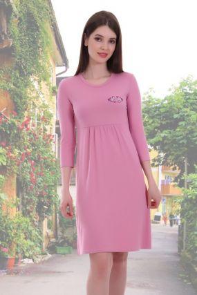 Платье вискозное Тоня (розовое)