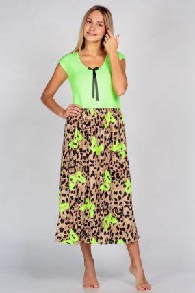 Платье трикотажное Неон (салатовое)
