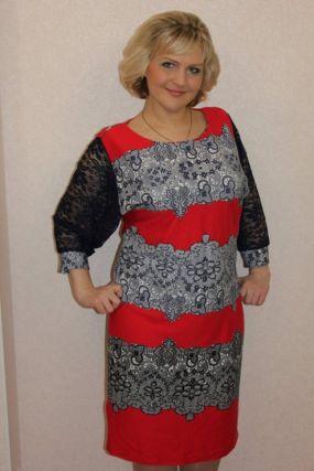 Платье трикотажное Лакиша (красное)