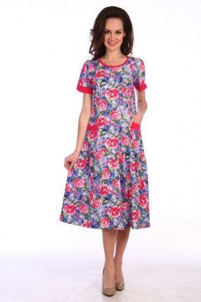 Платье трикотажное Кинтия (розовое)