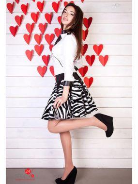 Юбка Vision Fashion Store, цвет белый, черный