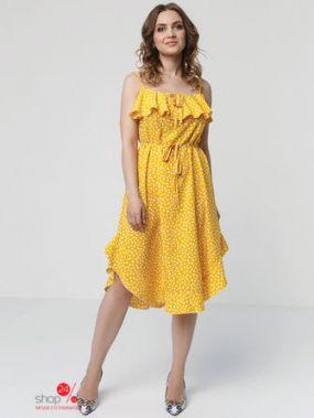 Платье MariKo, цвет желтый, белый