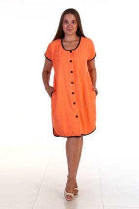 Халат махровый Полюша (оранжевый)