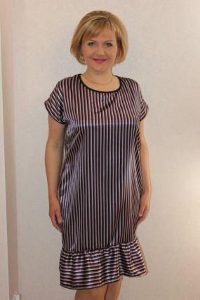 Платье трикотажное Феллина (полоска)
