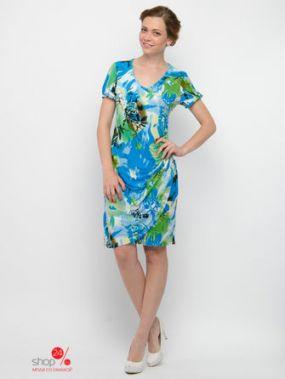 Платье Valeria Lux, цвет салатовый, голубой