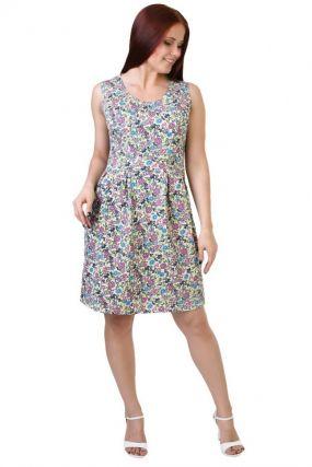 Платье трикотажное Эдна (фиолетово-желтое)