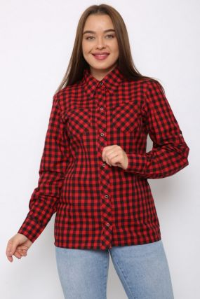 Рубашка трикотажная Дайна (красная)