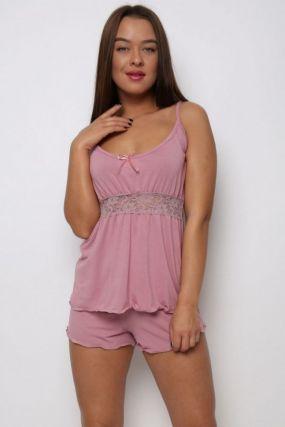 Пижама вискоза Премиум (розовая)