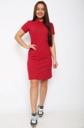 Платье трикотажное Каталина (красное)