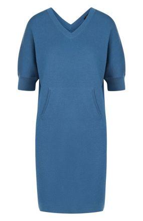 Однотонное мини-платье из смеси кашемира и шелка Loro Piana
