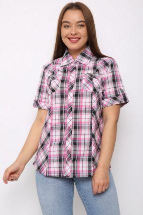 Рубашка трикотажная Полли (розовая)