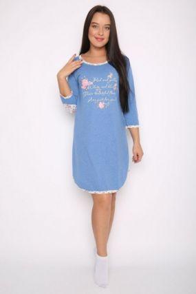 Ночная сорочка Ринна (голубая)