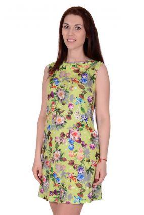 Платье трикотажное Лирика (салатовое)