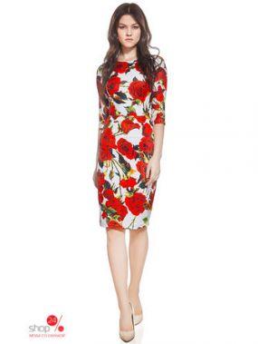 Платье Nothing but love, цвет белый, темно-красный