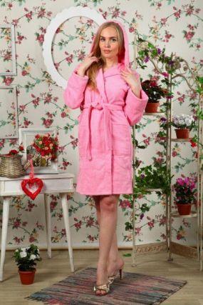 Халат махровый Луанна (розовый)
