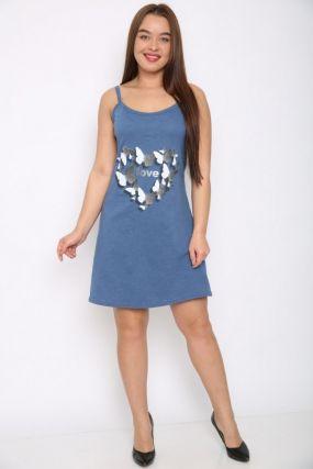 Ночная сорочка Эллина (синяя)