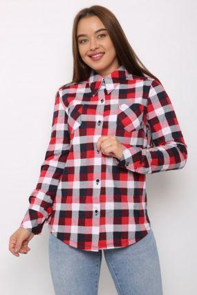 Рубашка трикотажная Гениста (красная)