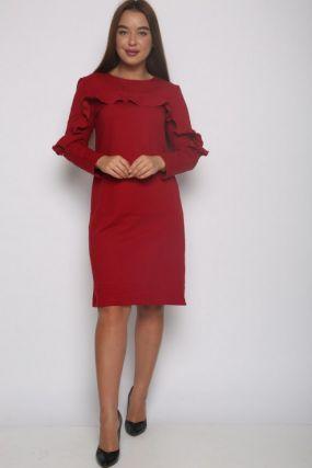 Платье трикотажное Джулиана (красное)