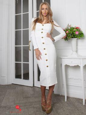 Платье Lipinskaya Brand, цвет белый