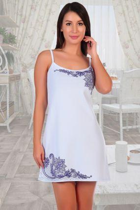 Ночная сорочка Кружева (голубая)