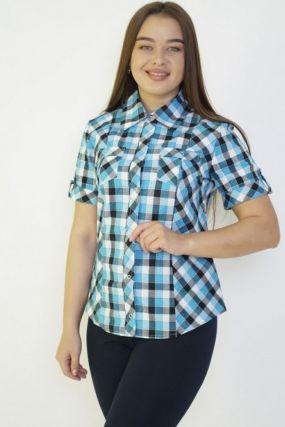 Рубашка трикотажная Полли (бирюзовая)