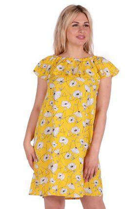 Платье штапельное Джуана (желтое)