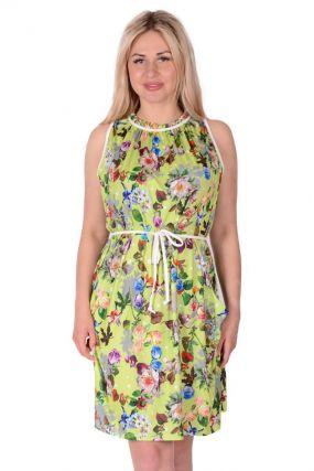 Платье трикотажное Адерин (салатовое)