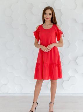 Платье штапельное Микелла (красное)