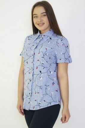 Рубашка трикотажная Анжела (полоса)