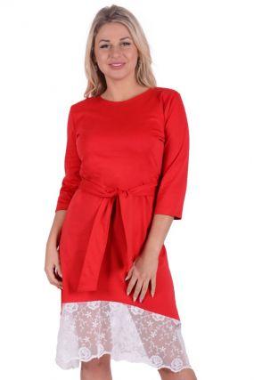 Платье трикотажное Лексана (красное)