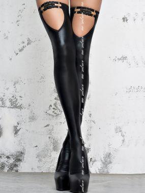 Глянцевые чулки госпожи (Me Seduce) – черный