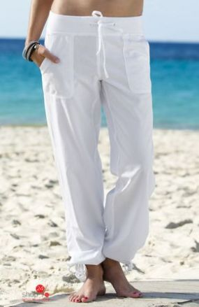 Широкие брюки, длина 80 см Halens, цвет белый