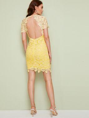 Кружевное платье-карандаш