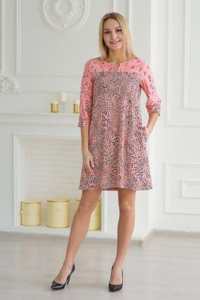 Платье трикотажное Ломара (розовое)