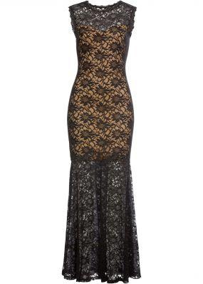 Вечернее платье макси из кружева