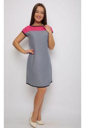 Платье трикотажное Сальма (серо-розовое)