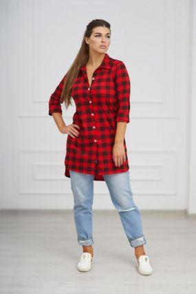 Рубашка трикотажная Зинаида (красная)