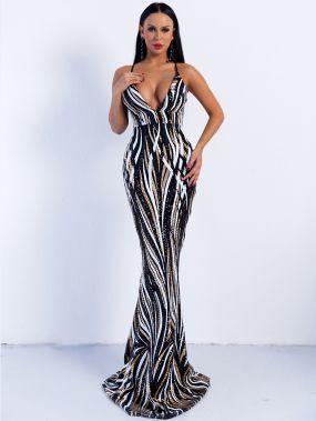 Missord длинное платье на бретелях с глубоким вырезом и блестками