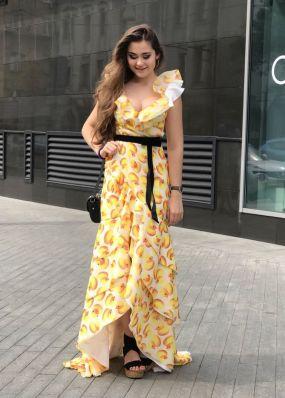 Длинное шифоновое платье TB062B