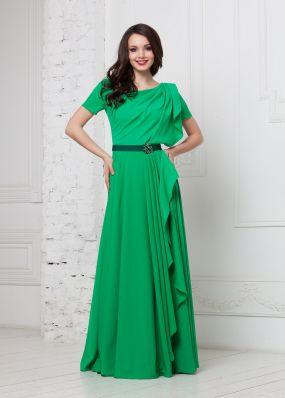 Длинное вечернее платье с драпировкой ND112B