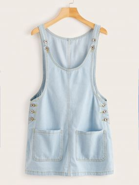 Джинсовое платье с карманом