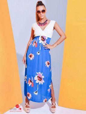 Платье Sense, цвет синий, белый