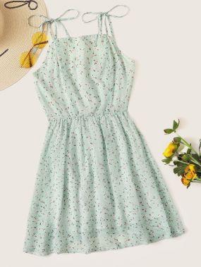 Платье с цветочным принтом и молнией