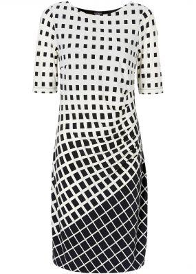 Мини-платье с графичным узором