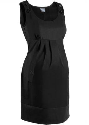 Деловая мода для беременных: платье в клетку